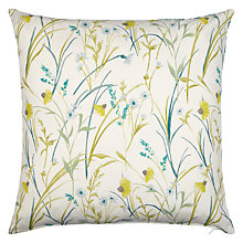 Buy John Lewis Aster Meadow / Arley Reversible Cushion. Green Online at johnlewis.com
