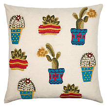 Buy John Lewis Cactus Cushion, Multi Online at johnlewis.com