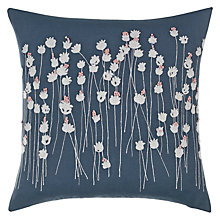 Buy John Lewis Croft Collection Poppies Cushion, Loch Blue Online at johnlewis.com