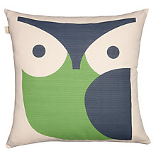 Buy Orla Kiely Owl Cushion, Grass Green Online at johnlewis.com