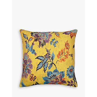 John Lewis Leona Floral Cushion, Yellow