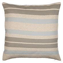 Buy John Lewis Salcombe Stripe Cushion, Duck Egg Online at johnlewis.com