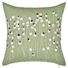 Buy John Lewis Croft Collection Poppies Cushion, Sorrel Online at johnlewis.com