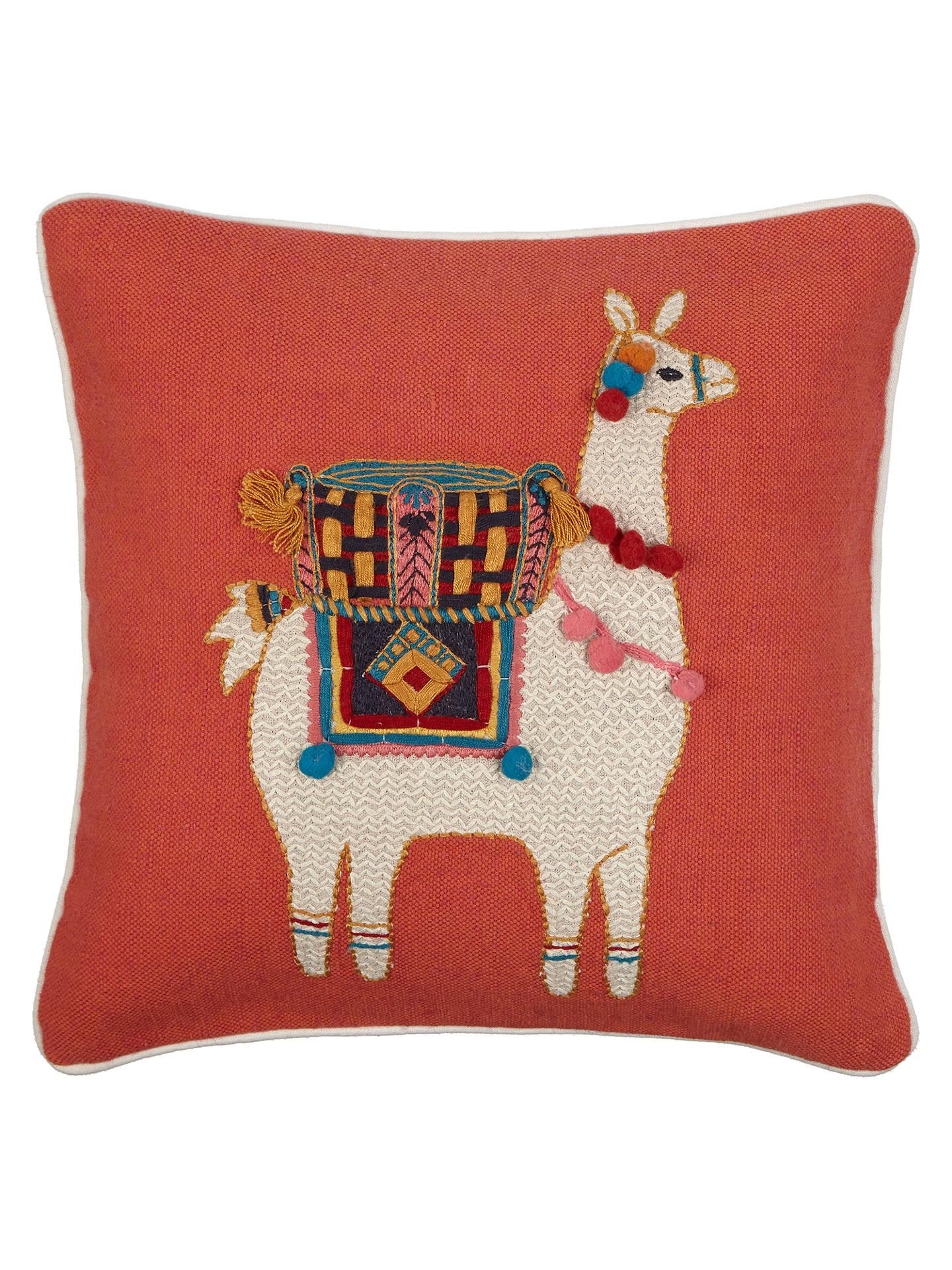 john lewis llama cushion multi at john lewis partners. Black Bedroom Furniture Sets. Home Design Ideas