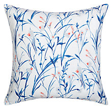 Buy John Lewis Aster Meadow / Arley Reversible Cushion, Blue Online at johnlewis.com