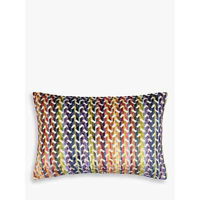 John Lewis Accoterra Stripe Cushion, Multi