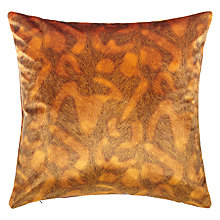 Buy John Lewis Draycott Cushion, Orange Online at johnlewis.com