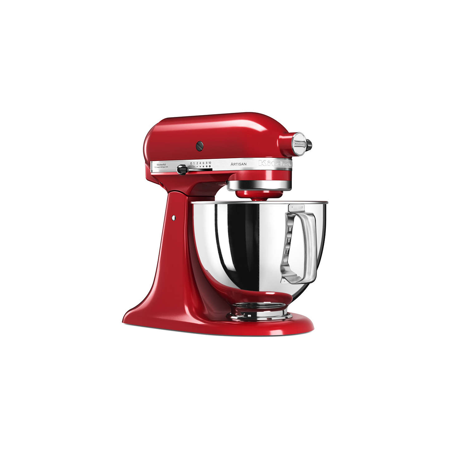 BuyKitchenAid 125 Artisan 4.8L Stand Mixer, Empire Red Online at johnlewis.com