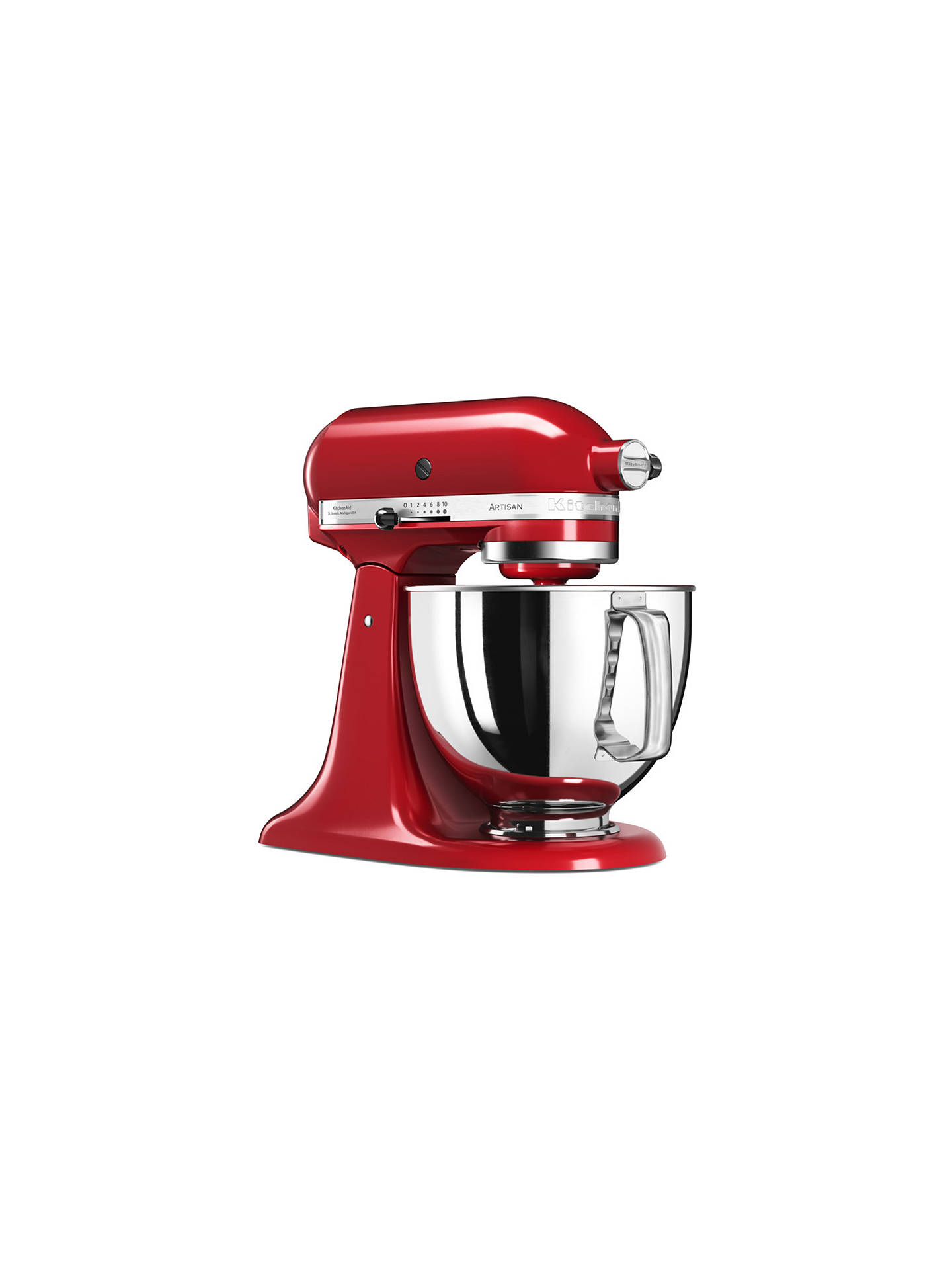 Buy KitchenAid 125 Artisan 4.8L Stand Mixer, Empire Red Online at johnlewis.com