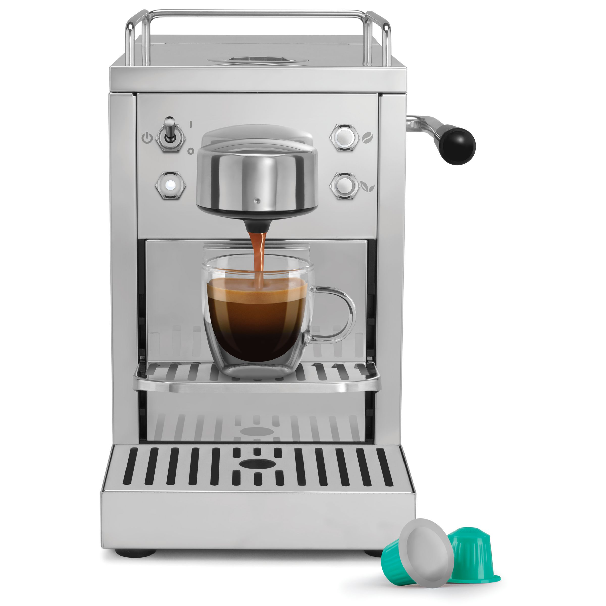 Buy Dualit 85170 Classic Coffee Capsule Machine, Stainless Steel John Lewis