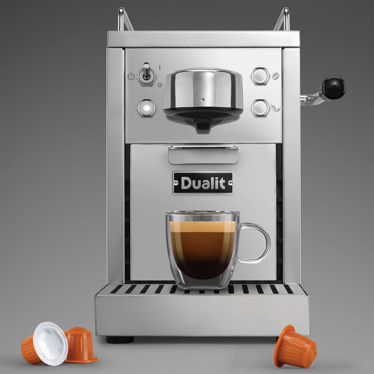 BuyDualit 85170 Classic Coffee Capsule Machine, Stainless Steel Online at johnlewis.com