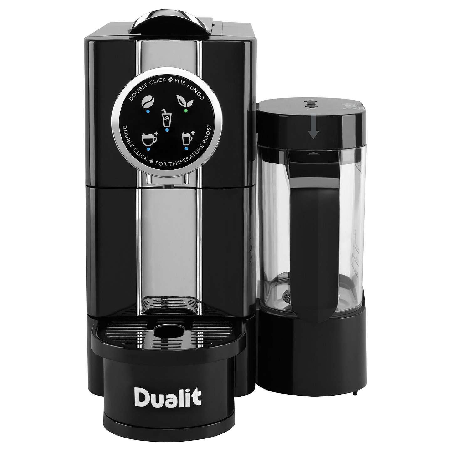 dualit 85180 cafe cino coffee capsule machine black at john lewis. Black Bedroom Furniture Sets. Home Design Ideas