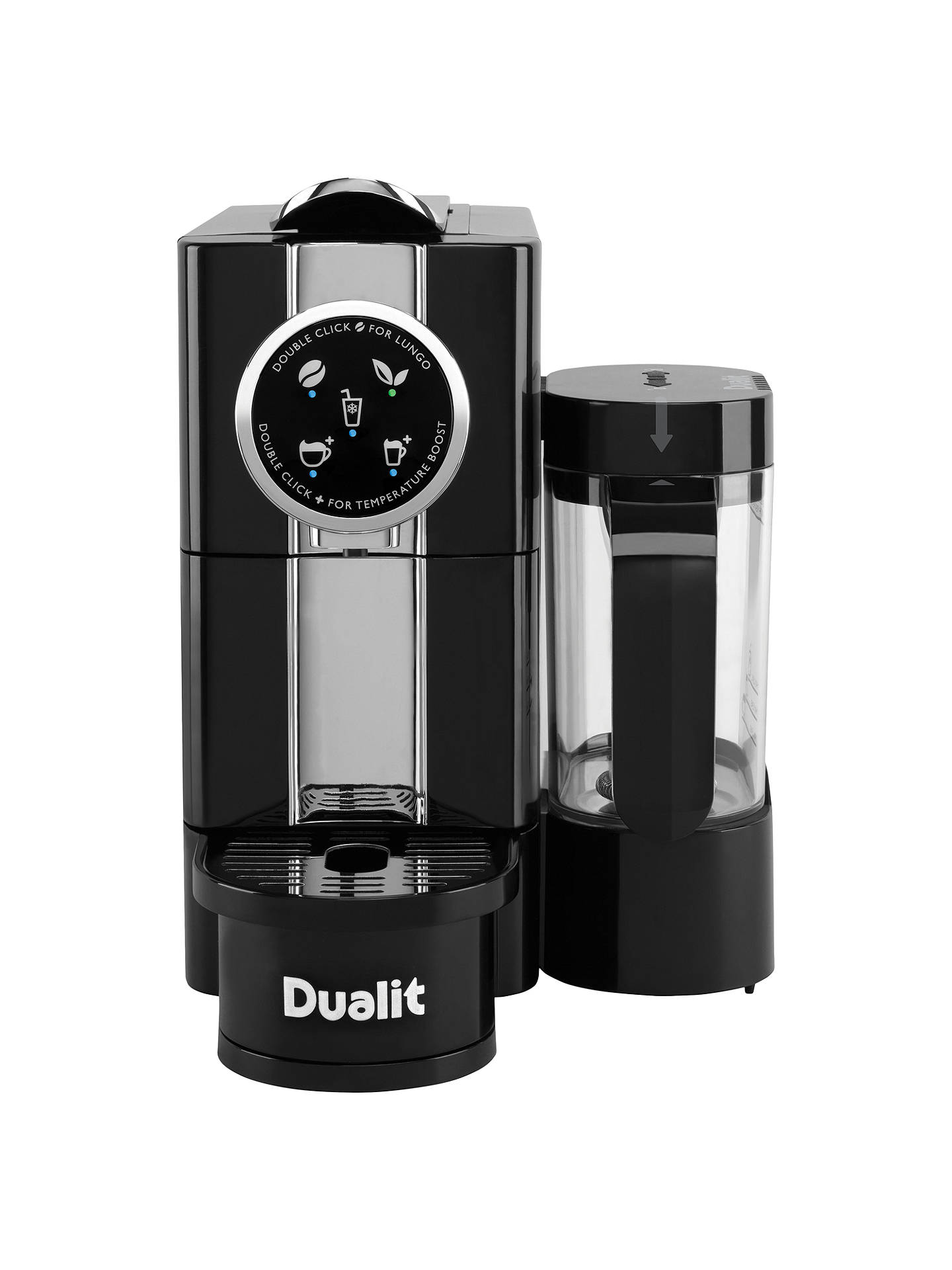 dualit 85180 cafe cino coffee capsule machine black at john lewis partners. Black Bedroom Furniture Sets. Home Design Ideas