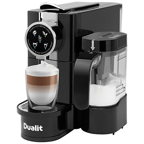 buy dualit 85180 cafe cino coffee capsule machine black john lewis. Black Bedroom Furniture Sets. Home Design Ideas