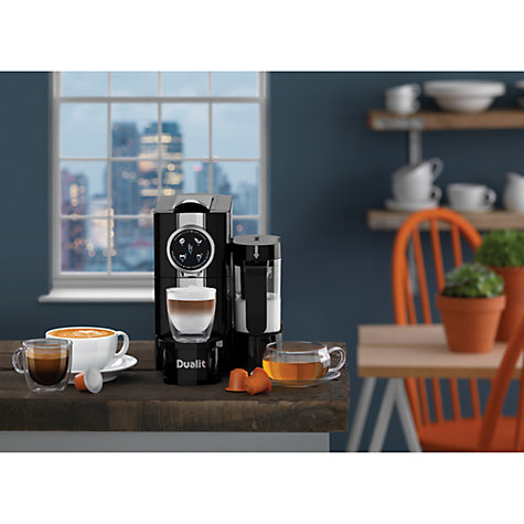 Buy Dualit 85180 Cafe Cino Coffee Capsule Machine, Black Online at johnlewis.com