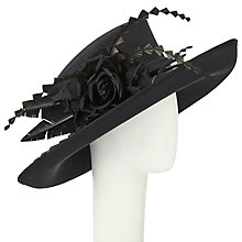 Buy John Lewis Laura Medium Shantung Occasion Hat, Black Online at johnlewis.com