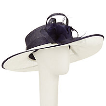 Buy John Lewis Lisa Side Up Feather Flower Occasion Hat, Navy/Ivory Online at johnlewis.com