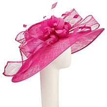 Buy John Lewis Kate Large Down Brim Feather Flower Occasion Hat, Magenta Online at johnlewis.com