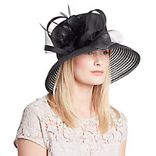 Buy John Lewis Winnie Down Brim Shantung Crown Occasion Hat, Black Online at johnlewis.com