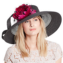 Buy John Lewis Aubrey Braid Flower Occasion Hat Black/Magenta Online at johnlewis.com