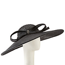 Buy John Lewis Lee Wide Brim Diamante Occasion Hat, Black Online at johnlewis.com