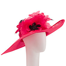 Buy John Lewis Sarah Large Occasion Hat, Poppy Red Online at johnlewis.com