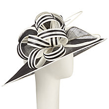 Buy John Lewis Louise Sinamay Loops Occasion Hat, Black/White Online at johnlewis.com