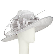Buy John Lewis Tess Large Brim Feather Quills Occasion Hat, Silver Online at johnlewis.com