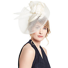 Buy John Lewis Carly Braid Flower Fascinator, Cream Online at johnlewis.com