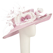 Buy John Lewis Sammi Side Up Quills and Flower Occasion Hat, Rose Online at johnlewis.com