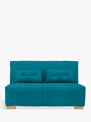 John Lewis & Partners Strauss Large 3 Seater Sofa Bed, Light Leg, Fraser Teal