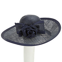 Buy Whiteley Violet Disc Flower Bow Occasion Hat, Navy Online at johnlewis.com
