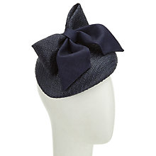 Buy Whiteley Susie Pillbox Bow Fascinator, Navy Online at johnlewis.com