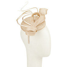 Buy John Lewis Ali Pillbox Quill Fascinator, Champagne Online at johnlewis.com