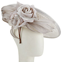 Buy Whiteley Phoebe Side Disc Rose Occasion Hat, Dove Online at johnlewis.com