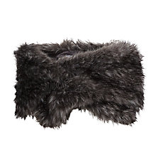 Buy Gina Bacconi Sparkle Metallic Faux Fur Slot Through Scarf, Black/Silver Online at johnlewis.com