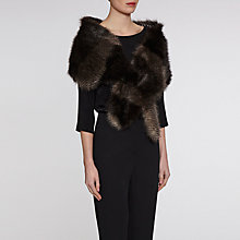 Buy Gina Bacconi Subtle Stripe Faux Fur Slot Through Scarf, Multi Online at johnlewis.com