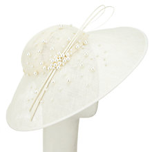 Buy John Lewis Clare Faux Pearl Down Brim Disc Occasion Hat, Ivory Online at johnlewis.com