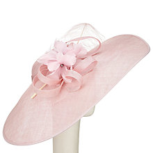 Buy John Lewis Rei Feather Quills Disc Occasion Hat, Chalk Pink Online at johnlewis.com