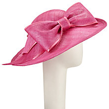 Buy John Lewis Grace Disc Large Bow Occasion Hat, Magenta Online at johnlewis.com