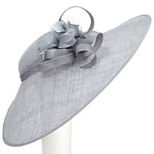 Buy John Lewis Rei Feather Flower and Loop Disc Occasion Hat, Mercury Online at johnlewis.com