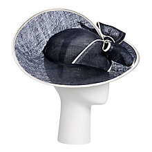 Buy John Lewis Milly Swirl Disc Bow Detail Occasion Hat, Navy/Ivory Online at johnlewis.com