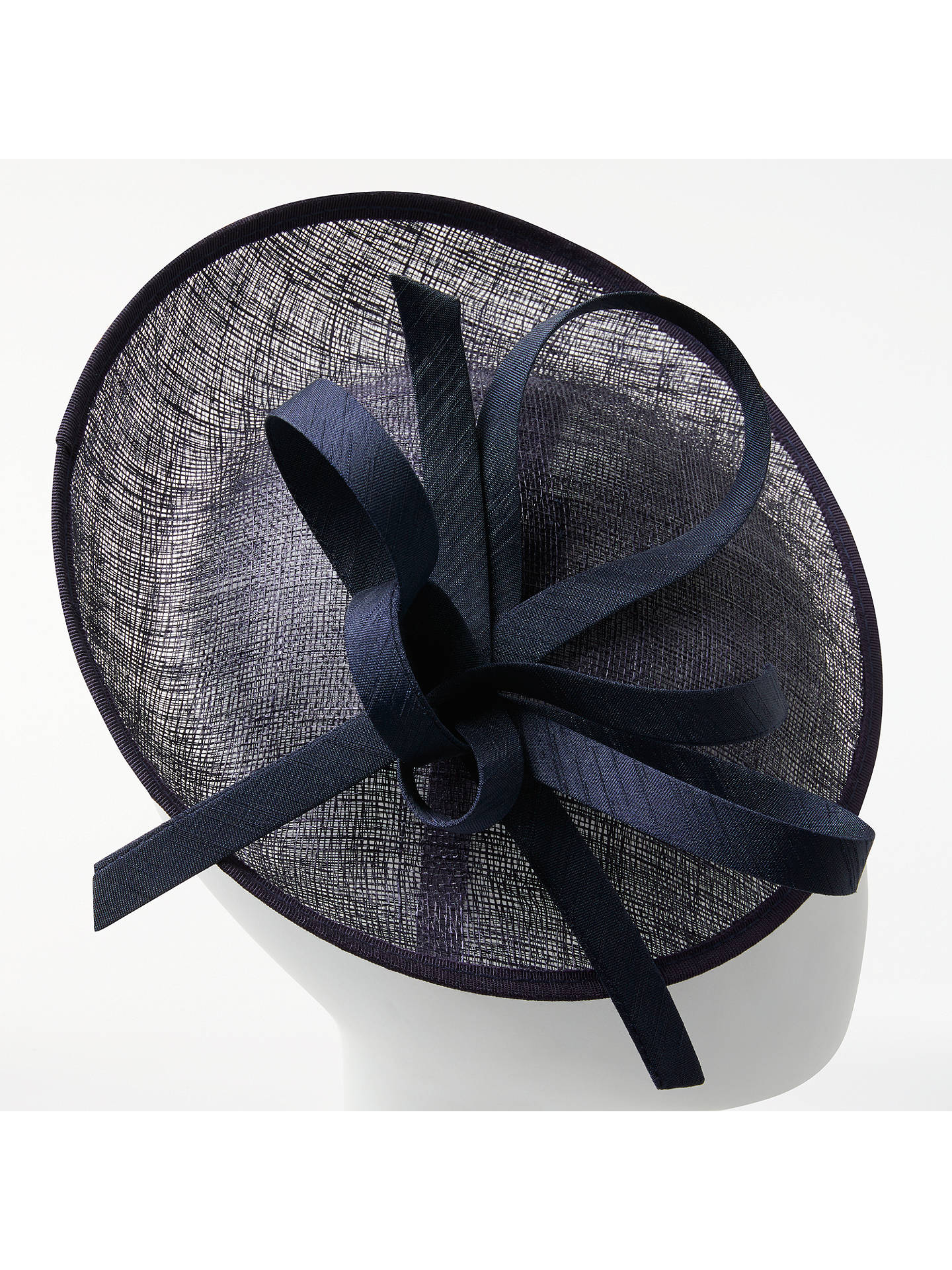 BuyJohn Lewis & Partners Bea Disc and Quill Occasion Hat, Navy Online at johnlewis.com
