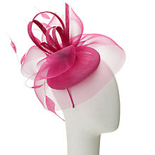 Buy John Lewis Tara Crin Pillbox Bow Fascinator, Fuchsia Online at johnlewis.com