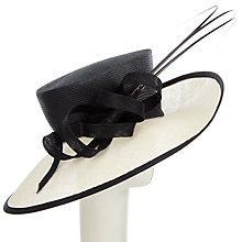 Buy Snoxells Penny Side Up Occasion Hat, Black/White Online at johnlewis.com