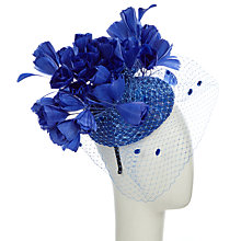 Buy Snoxells Jamie Sequin Pillbox Rose Fascinator, Royal Blue Online at johnlewis.com