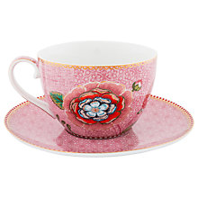 Buy PiP Studio Spring To Life Cup and Saucer, Pink Online at johnlewis.com