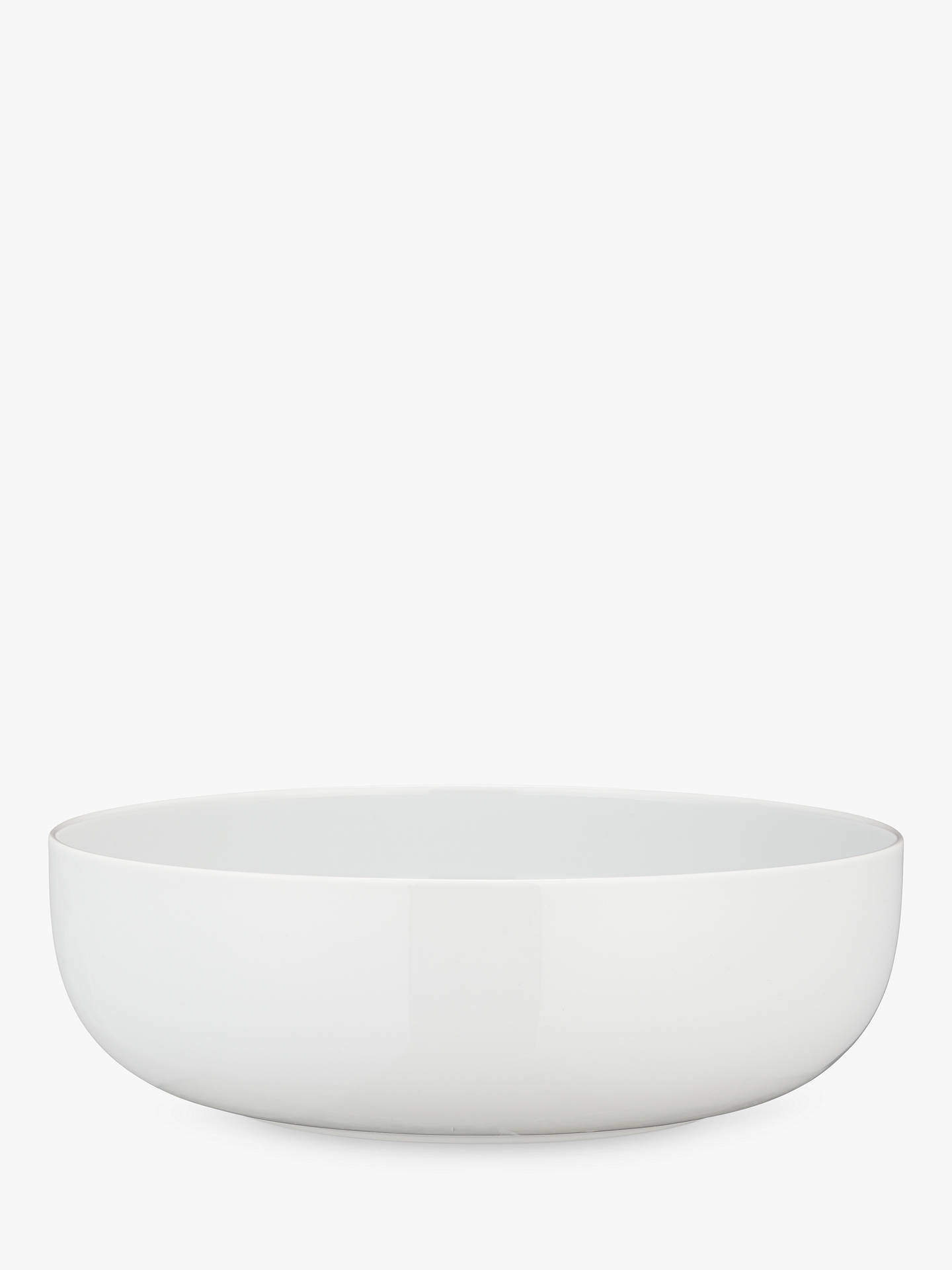 Buy House by John Lewis Eat 28cm Round Serve Bowl, White Online at johnlewis.com