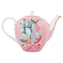 Buy PiP Studio Spring To Life Pink Teapot, Large Online at johnlewis.com