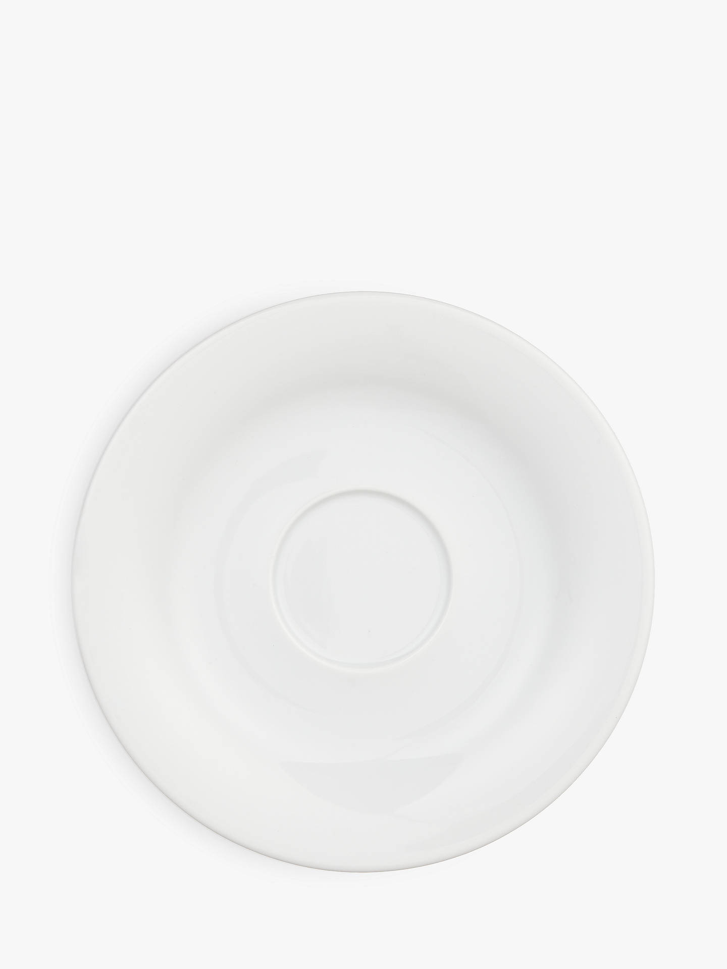 BuyHouse by John Lewis Eat 17cm Saucer, White Online at johnlewis.com